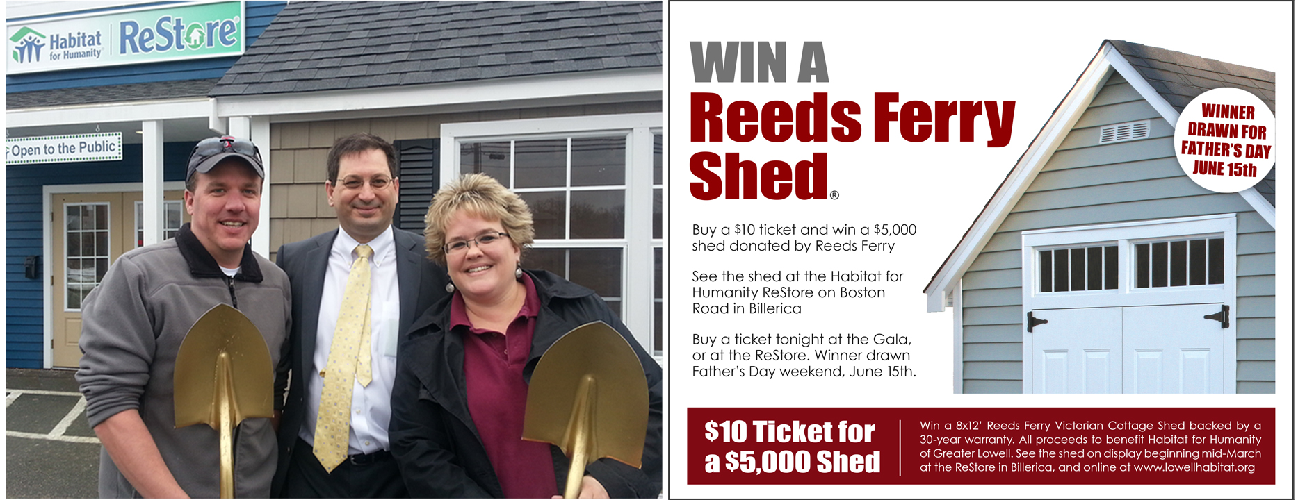 Reeds Ferry Sheds and Habitat for Humanity of Lowell